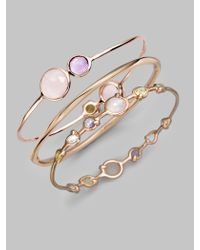 Ippolita | Metallic Rose Carino Squiggle Bangle Bracelet | Lyst