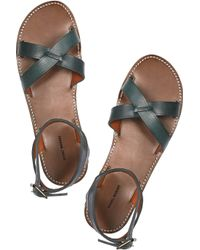 Isabel Marant | Green Merry Leather Sandals | Lyst