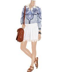 Isabel Marant White Delph Broderie Anglaise Cottonblend Mini Skirt