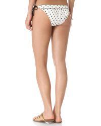 Juicy Couture White Itsy Bitsy Polka Dot Bikini Bottoms