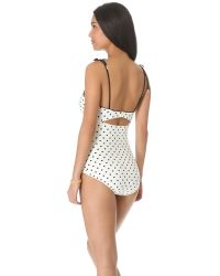 Juicy Couture White Itsy Bitsy Polka Dot One Piece