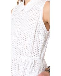 Juicy Couture White Eyelet Dress