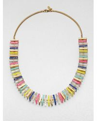 kate spade new york - Multicolor Long Square Beaded Necklace - Lyst