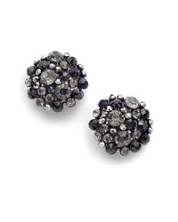 Kenneth Jay Lane | Metallic Sparkle Cluster Earrings | Lyst