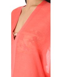 Love Quotes Pink Shiva Cover Up Top