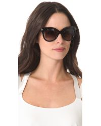 Marc Jacobs Black Exaggerated Cat Eye Sunglasses