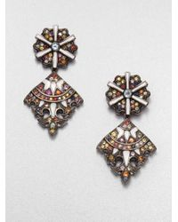 M.c.l  Matthew Campbell Laurenza - Multicolor Sapphires Blue Topaz and Sterling Silver Earrings - Lyst