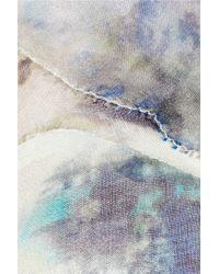 Nicole Farhi Blue Printed Silk Dress