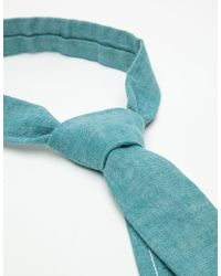 The Hill-side - Green Asagi Chambray Tie for Men - Lyst