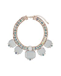 TOPSHOP | White Premium Stone Thread Collar | Lyst