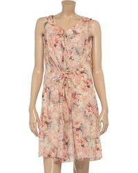 Vanessa Bruno Pink Floralprint Cotton Dress