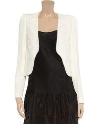 Vanessa Bruno White Embellished Crepe Jacket