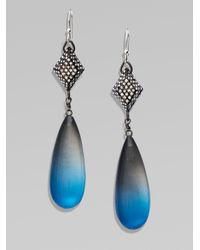 Alexis Bittar - Black Color Gradient Teardrop Lucite Earrings - Lyst