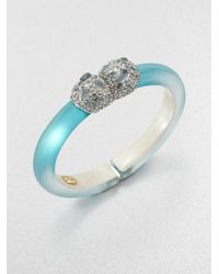 Alexis Bittar | Blue Jeweled Lucite Bangle Bracelet | Lyst