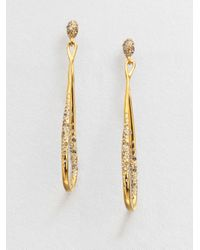 Alexis Bittar | Metallic Swarovski Crystal Orbiting Drop Earrings | Lyst