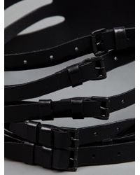 Ann Demeulemeester | Black Buckle Strap Cuff | Lyst