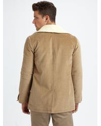A.P.C. | Natural Canadienne Corduroy Jacket for Men | Lyst