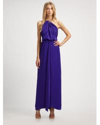 BCBGMAXAZRIA - Blue Edith Necklace Gown - Lyst