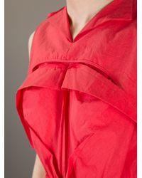 Bernhard Willhelm | Red Sleeveless Dress | Lyst