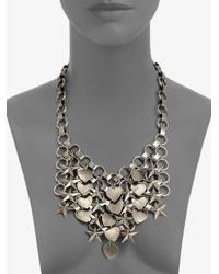 DANNIJO - Metallic Marinella Stars Hearts Chainmail Bib Necklace - Lyst