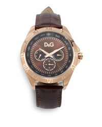 Dolce & Gabbana Pink Chamonix Leather Stainless Steel Watchrose Gold