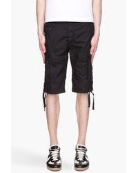 DIESEL Black Ensor R Sho Cargo Shorts for men