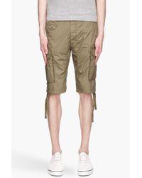 DIESEL Green Ensor R Sho Cargo Shorts for men