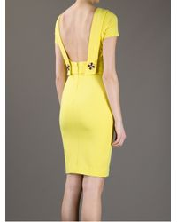 DSquared² Yellow Fitted Dress