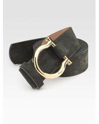 Ferragamo | Green D-ring Gancino Belt for Men | Lyst