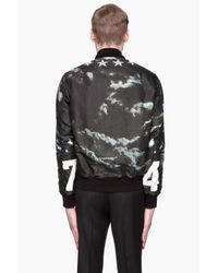 Givenchy Green Reversible Airplane Bomber Jacket for men