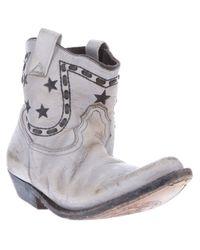 Golden Goose Deluxe Brand - Gray Cowboy Boots - Lyst