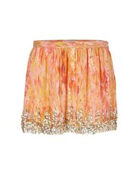 Haute Hippie - Orange Sequined Silk Skirt in Sunflower - Lyst