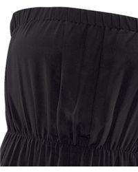 H&M Black Long Strapless Dress