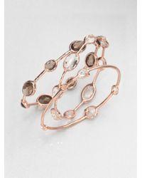 Ippolita - Rosé Mini 5stone Clear Quartz Bangle Bracelet - Lyst