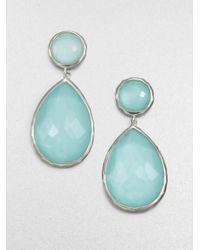 Ippolita | Metallic Mother Of Pearl Clear Quartz Doublet Snowman Drop Earrings | Lyst