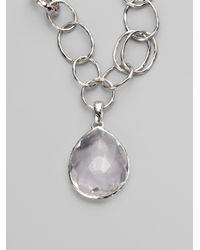 Ippolita | Metallic Clear Quartz Sterling Silver Enhancer | Lyst