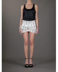 Isabel Marant White Floral Ruffle Skirt