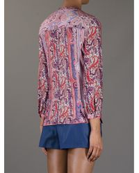 Isabel Marant Red Lace Up Blouse