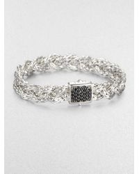 John Hardy | Metallic Black Sapphire & Sterling Silver Braided Bracelet | Lyst