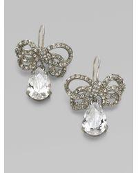 Juicy Couture - Metallic Pav233 Bow Drop Earrings - Lyst