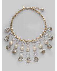 kate spade new york Metallic Glass Beaded Spray Necklace