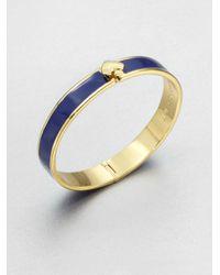 kate spade new york   Blue Enamel Accented Hinged Bangle Bracelet Navy   Lyst