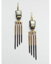 Kelly Wearstler | Metallic Pyrite Pandora Earrings | Lyst