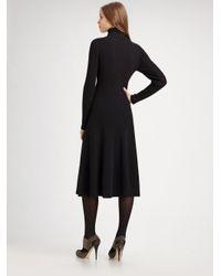 Lafayette 148 New York - Black Merino Wool Turtleneck Dress - Lyst