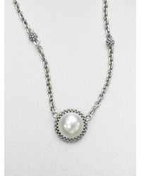 Lagos | Metallic Caviar Pearl Necklace | Lyst
