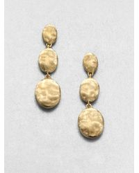 Marco Bicego | Metallic Siviglia 18k Yellow Gold Triple-drop Earrings | Lyst