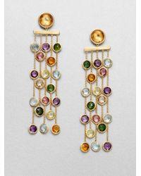 Marco Bicego | Metallic Mini Jaipur Semi-precious Multi-stone & 18k Yellow Gold Five-strand Drop Earrings | Lyst