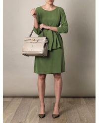 Max Mara Gray Lana Ostrich Skin Bag