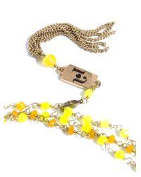 Rosantica - Yellow Rosarietto Agate Necklace - Lyst