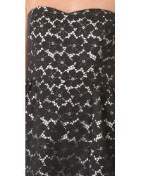 Shoshanna Black Nicolette Lace Strapless Dress